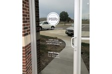Exterior Cut White Vinyl Door Graphics for Planet Sub in Gardner, Kansas