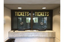 Ticket Window Graphics for UMKC Athletics in Kansas City, Missouri
