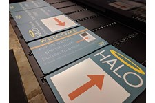 Exterior Wayfinding and Parking Signs for The Halo Foundation in Kansas City, Missouri