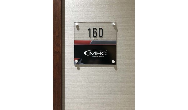 Interior ADA Room Number Sign for Murphy Hoffman in Leawood, Kansas