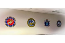Interior Wall Vinyl Military Seals for Alphapointe in Kansas City, Missouri
