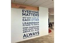 Interior Wall Vinyl Lettering Installation for Insight Global in Kansas City, Missouri