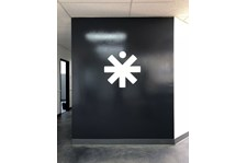 Interior Cut White Vinyl Wall Graphic for Medical Positioning Inc. in Kansas City, Kansas