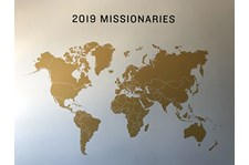 Interior Map Wall Graphic for Redeemer Fellowship in Kansas City, Missouri