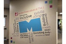 Interior Wall Graphic for The Jewish Community Center of Greater Kansas City in Overland Park, Kansas