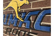 Exterior Brick Vinyl Graphic for UMKC Athletics in Kansas City, Missouri