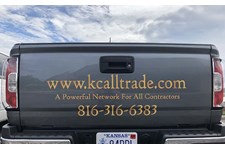 Cut Vinyl Truck Lettering for KC Alltrade in Kansas City, Missouri