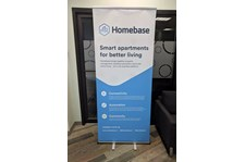 Retractable Banner Stand for Homebase AI in Kansas City, Missouri