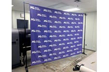 Step and Repeat Fabric Backdrop with Hardware for March of Dimes in Kansas City, Missouri