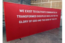 Interior Tension Fabric Display for Redeemer Fellowship in Kansas City, Missouri