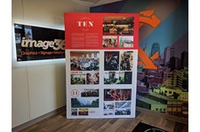 Tension Fabric Display for Redeemer Fellowship in Overland Park, Kansas