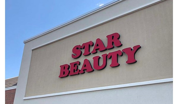 Illuminated Channel Letters for Star Beauty in Independence, Missouri