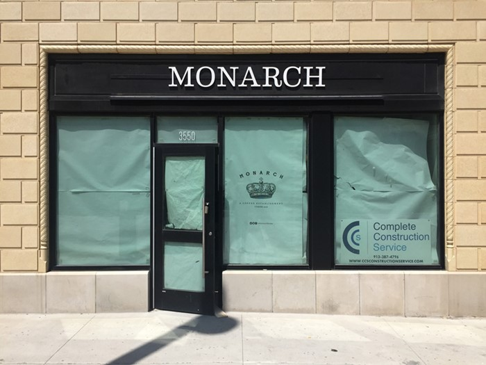 Custom White Acrylic Dimensional Letters for Monarch in Kansas City, Missouri