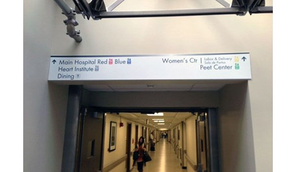 Interior Wayfinding Signage for St. Lukes Hospital in Kansas City, MO