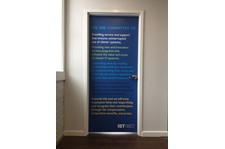 Interior Door Wrap for Installation and Service Technologies in Kansas City, Missouri