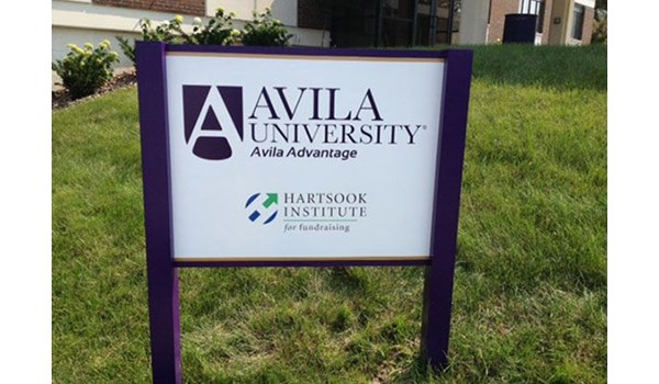 Exterior Metal Post and Panel Sign for Avila University