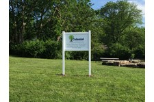 Exterior Vinyl Post and Panel Sign for Colonial Presbyterian Preschool in Kansas City, MO