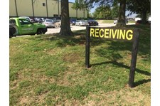 Exterior Wood Post and Panel Sign with Cut Vinyl Lettering for Reeves-Wiedeman in Lenexa, Kansas