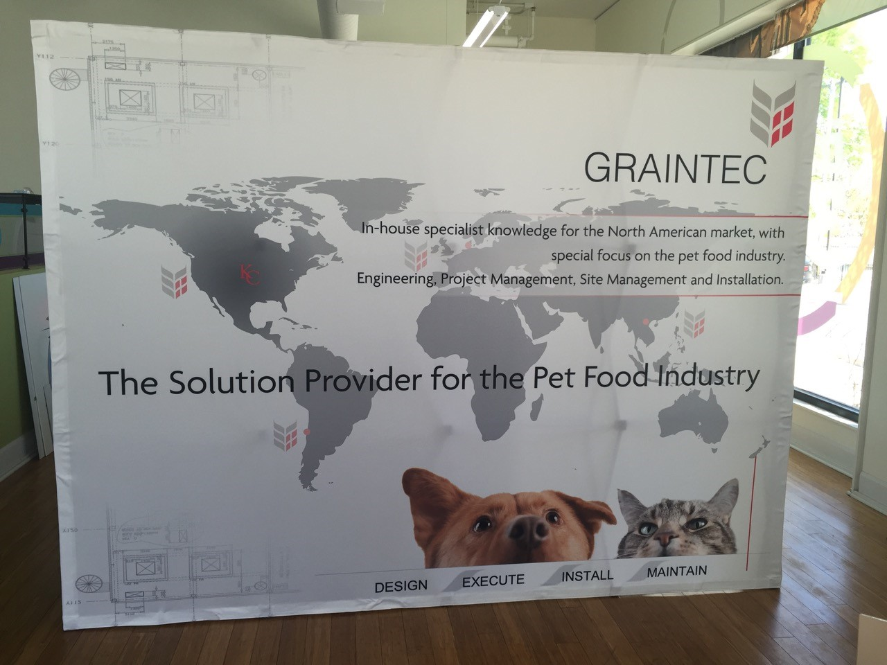 Custom Fabric Tradeshow Backdrop for Graintec in Kansas City, KS