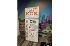 Retractable Banner Stand for the KCK Chamber in Kansas City, Kansas