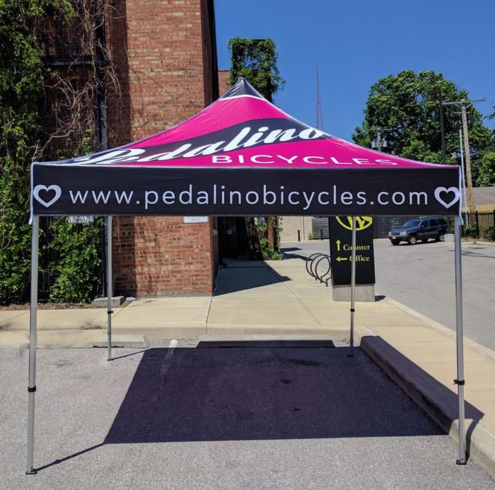 Custom 10 Foot Pop Up Tent for Pedalino Bicycles