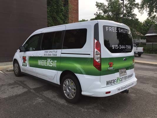 Partial Van Graphics for 7th St. Casino in Kansas City, Kansas