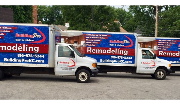Box Truck Graphics for Building Pro Bath in Lees Summit, MO