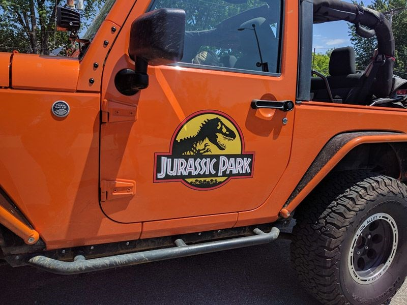 Jurassic Park Door Graphics in Kansas City, MO