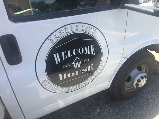 Cut Vinyl Vehicle Graphics for Welcome House in Kansas City, Missouri
