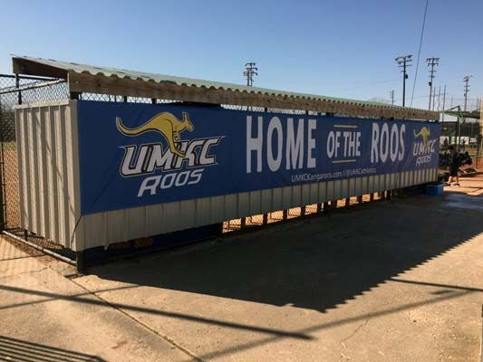 Oversized Mesh Banner for UMKC Athletic Department in Kansas City, MO