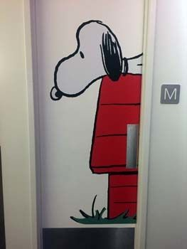 Restroom Door Graphic for Andrews McMeel Universal in Kansas City, MO