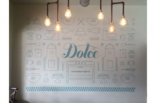 Cut Vinyl Wall Graphic for Dolce Bakery in Prairie Village, Kansas