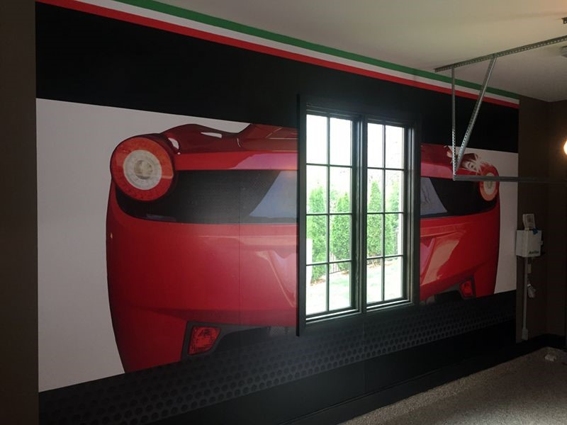 Interior Wall Graphic for Private Garage in Lenexa, Kansas