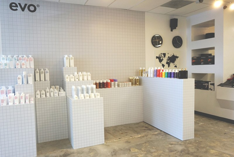 Interior Tile Wall Graphic for Modern Salon Services in Kansas City, Missouri