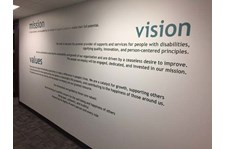 Interior Cut Vinyl Wall Graphic for Open Options in Kansas City, Missouri
