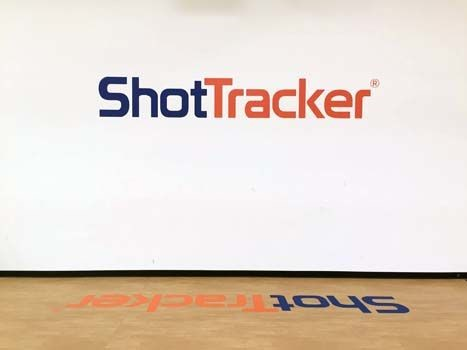 Wall and Floor Graphic for Shot Tracker in Overland Park, KS
