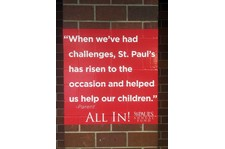 Interior Brick Wall Graphic for St. Paul