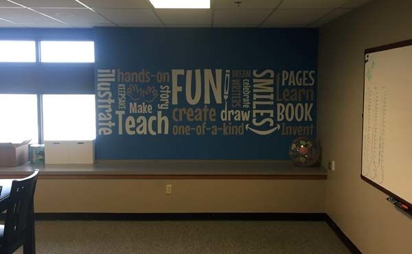 Interior Wall Graphic for Student Treasures in Topeka, KS