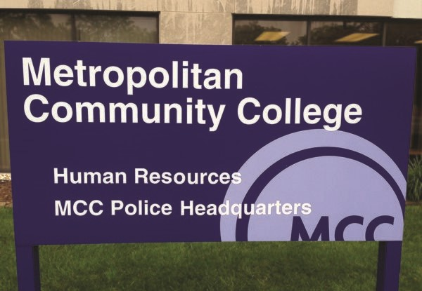 Exterior Aluminum Sign with Posts for Metropolitan Community College in Kansas City, MO