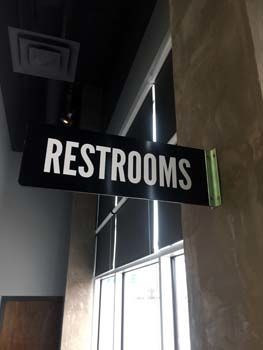 Aluminum Restroom Sign for Blue Sushi Sake Grill in Kansas City, KS