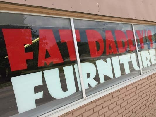 Second-Surface Window Graphic for Fat Daddy