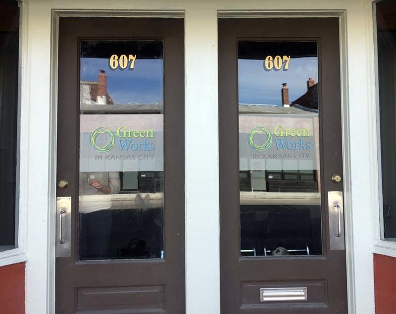 Cut Vinyl Door Graphics for Greenworks KC in Kansas City, Missouri