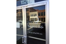 Cut Vinyl Door Graphic for Songbird Cafe in Kansas City, Missouri