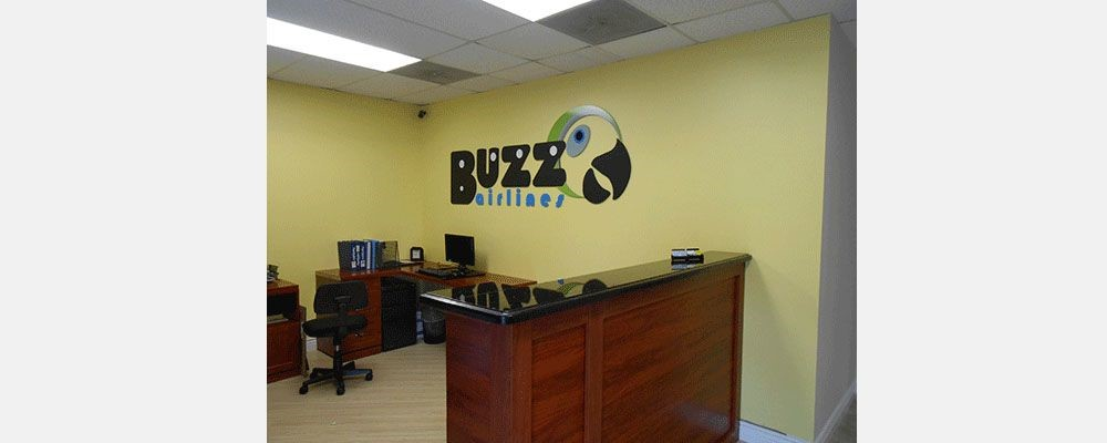 Image360 - Lauderhill - Buzz Airlines Reception Dimensional Lettering