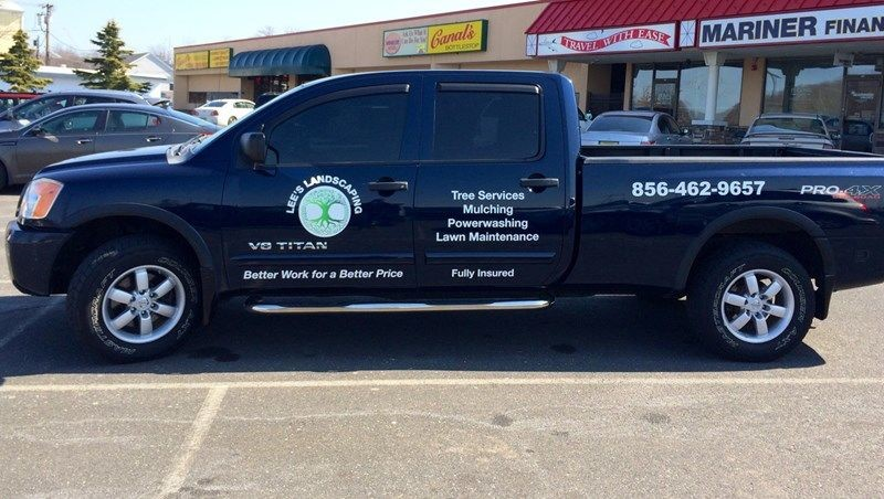 Lees Landscaping - Vehicle Graphics and Cut Lettering Marlton, NJ