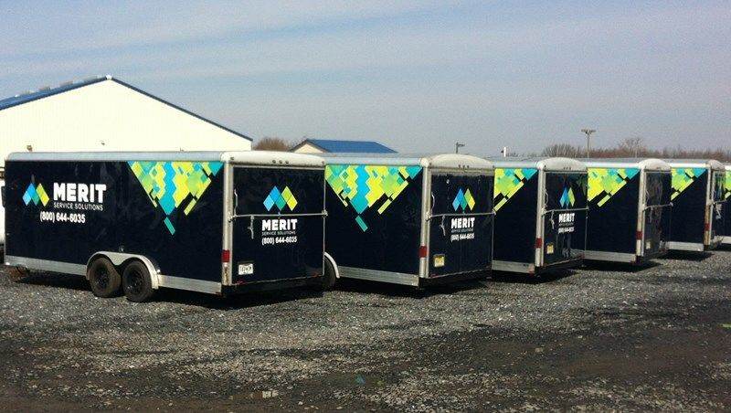 Merit - Trailer Fleet Vehicle Graphics and Lettering