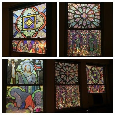 St. Michaels Stained glass static clings in Middle River, Maryland