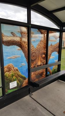 Wall Mural Graphics Bus Stop Geneva IL