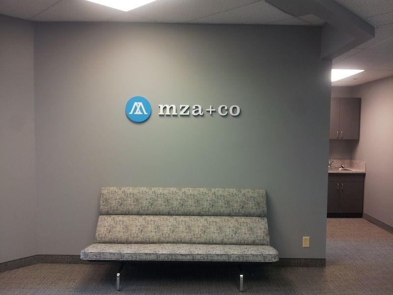 Dimensional Acrylic Letters and logo for office wall in St. Paul, MN