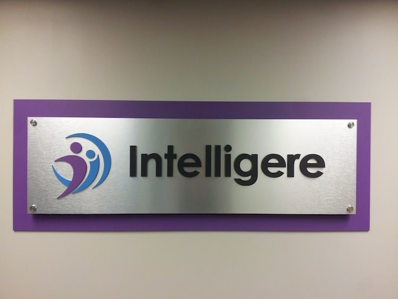 Dimensional Acrylic Office Wall Sign for Intelligere in Plymouth, MN